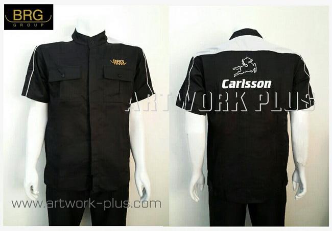 เสื้อบริษัท,เสื้อทำงาน,ชุดทำงานบริษัท,ชุดพนักงาน,ชุดฟอร์ม,ชุดฟอร์มบริษัท,เสื้อพนักงานสีดำ,เสื้อพนักงานรถยนต์,เสื้อช่าง BRG