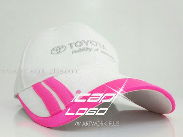ขายหมวกแก๊ป,รับผลิตหมวกแก๊ป,ผู้ผลิตหมวกแก๊ป,รับทำหมวกแก๊ป,หมวกแก็ป TOYOTA_pink