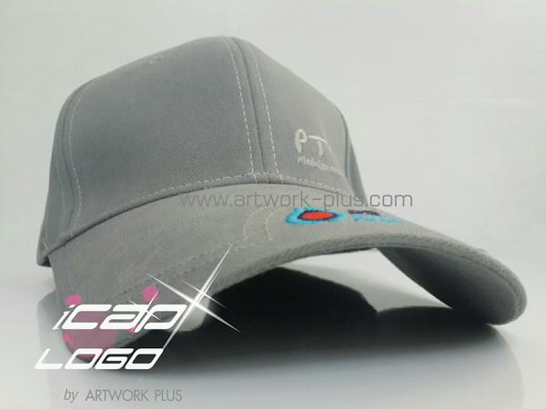 รับทำหมวกแก๊ป,หมวกแก็ปปีกยาว,หมวกกอล์ฟ,หมวกปักโลโก้_PTT ปตท_cap