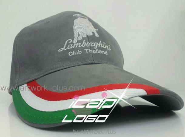 รับผลิตหมวกแก๊ป,ผู้ผลิตหมวกแก๊ป,รับทำหมวกแก๊ป,หมวก Cap_Lamborghini