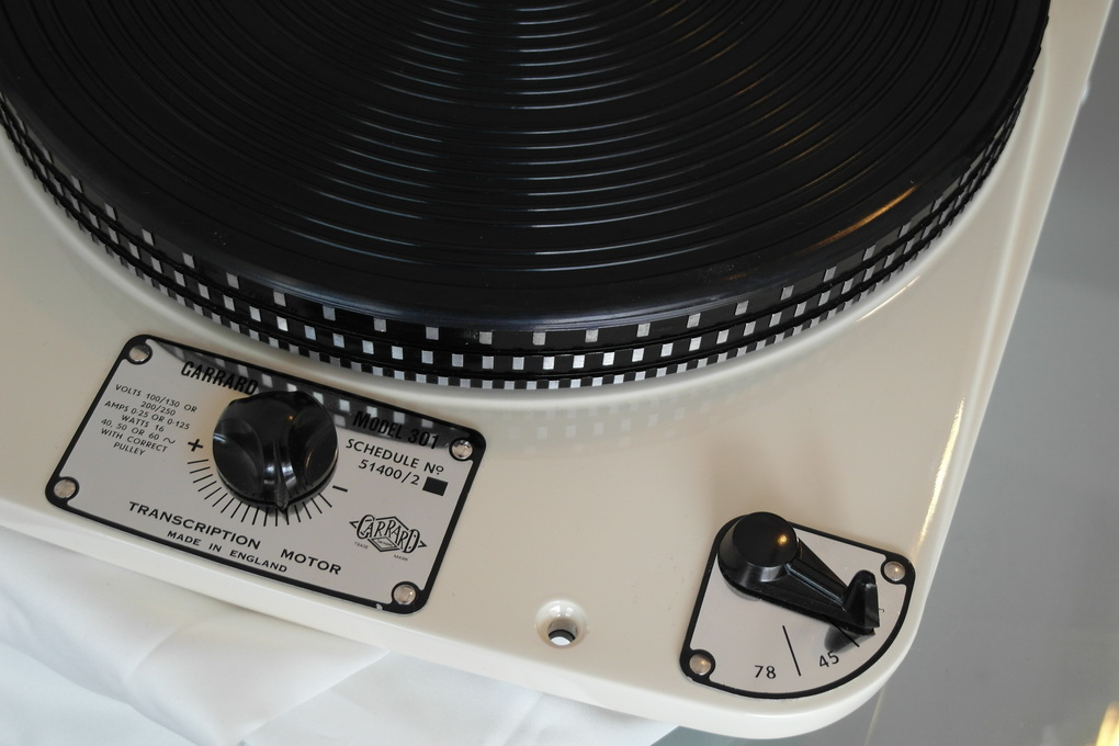 Restored 50Hz Pulley Version Garrard 301 #689 White Satin โทร. 084 560 3199