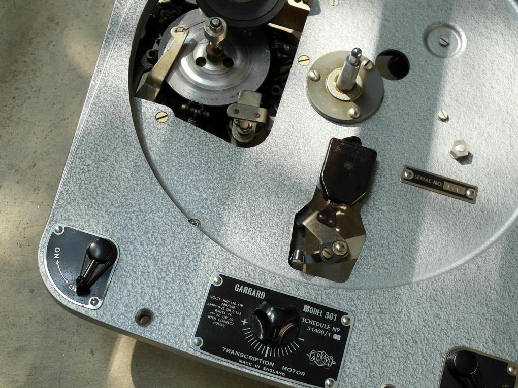 50Hz-version Garrard 301 #4713 Hammertone Grease bearing โทร. 084 560 3199