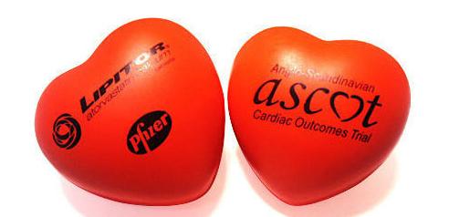 บอลบีบบริหารมือรูปหัวใจ