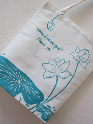 ถุงผ้าดิบ กระเป๋าผ้าดิบ ลดโลกร้อน ผ้าดิบลายสอง ผ้าแคนวาส สกรีนลาย จาก baginlove.com ถุงผ้างาน