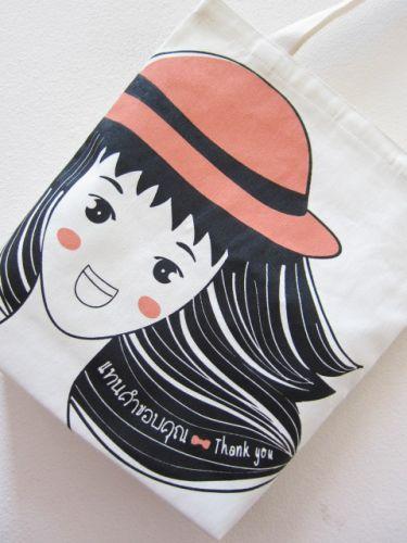 ลายสกรีน งานของร้าน แบบทั่วไป ถุงผ้าดิบ กระเป๋าผ้าดิบ ลดโลกร้อน ของชำร่วย