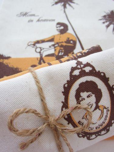 ถุงผ้างานศพ ฌาปนกิจ ถุงผ้าดิบ กระเป๋าผ้าดิบ ลดโลกร้อน สกรีนลายสำเร็จรูป ขายส่ง ลายน่ารัก จาก baginlove.com