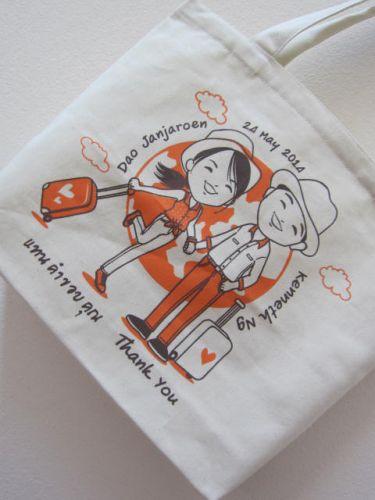งานออกแบบ ลายสกรีนถุงผ้า baginlove.com