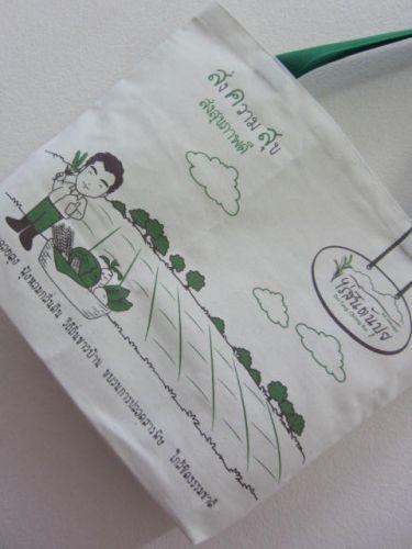 งานออกแบบ ของดไซเนอร์คนเก่ง ถุงผ้าดิบ ผ้าลายสอง ลดโลกร้อน จาก baginlove.com