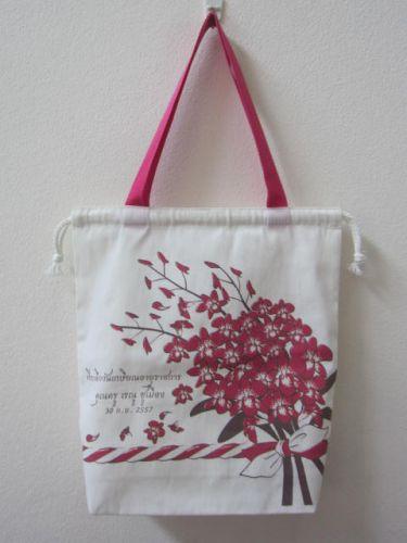 ถุงผ้า กระเป๋าผ้า สกรีนลาย ลดโลกร้อน หน่วยงาน องค์กร จาก baginlove.com