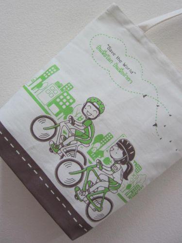 ถุงผ้า กระเป๋าผ้า ลดโลกร้อน ของชำร่วย หน่วยงาน องค์กร ลายสกรีนสวย จาก baginlove.com