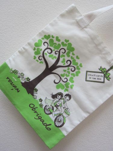 ถุงผ้า ของชำร่วย งานแต่ง baginlove.com