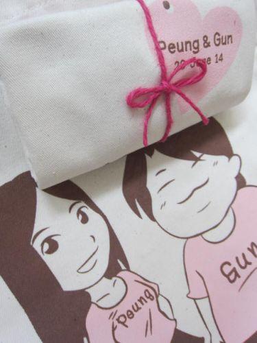 ถุงผ้า ของชำร่วย งานแต่ง baginlove.com (ลายสกรีนของคุณลูกค้า)