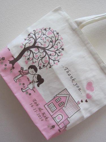 ถุงผ้า ของชำร่วย งานแต่งงาน ลายสกรีน จาก baginlove.com