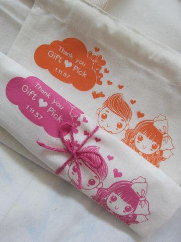 ถุงผ้า กระเป๋าผ้า ลดโลกร้อน สกรีนลาย ของชำร่วยงานแต่ง baginlove.com