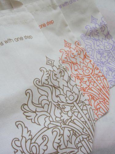 ถุงผ้า ถุงผ้าดิบ ลดโลกร้อน ของชำร่วยงานแต่ง สกรีนลายน่ารัก จาก baginlove.com (ลายสกรีนของคุณลูกค้า)