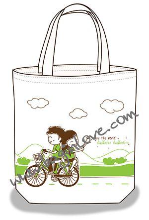 ลายสกรีน ถุงผ้าดิบ กระเป๋าผ้า ลดโลกร้อน จาก baginlove.com