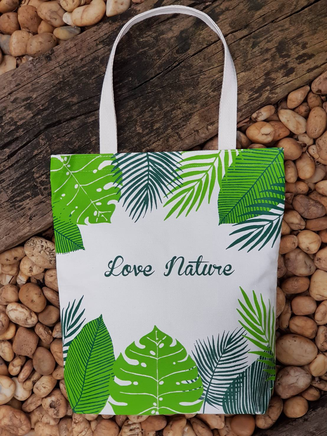 งานออกแบบ, ดีไซน์, สกรีน, ถุงผ้าดิบ, 600d, กระเป๋าผ้าดิบ, ถุงผ้า, ลดโลกร้อน, สกรีนลายสำเร็จรูป, ขายส่ง, ลายน่ารัก, จาก baginlove.com, ใบไม้, ธรรมชาติ, love nature