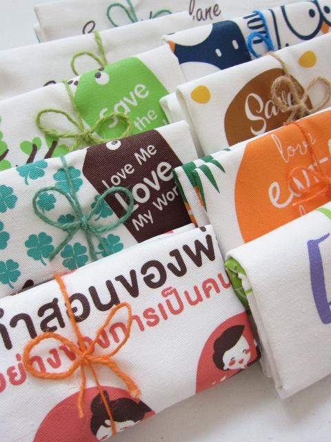 งานพิมพ์, ดิจิตอล, หลากสี, ดีไซน์, สกรีน, ถุงผ้าดิบ, กระเป๋าผ้าดิบ, ถุงผ้า, ลดโลกร้อน, คู่รัก, งานแต่ง, บ่าวสาว, ลายน่ารัก, จาก baginlove.com, หูเทปสี โพลีเอสเตอร์