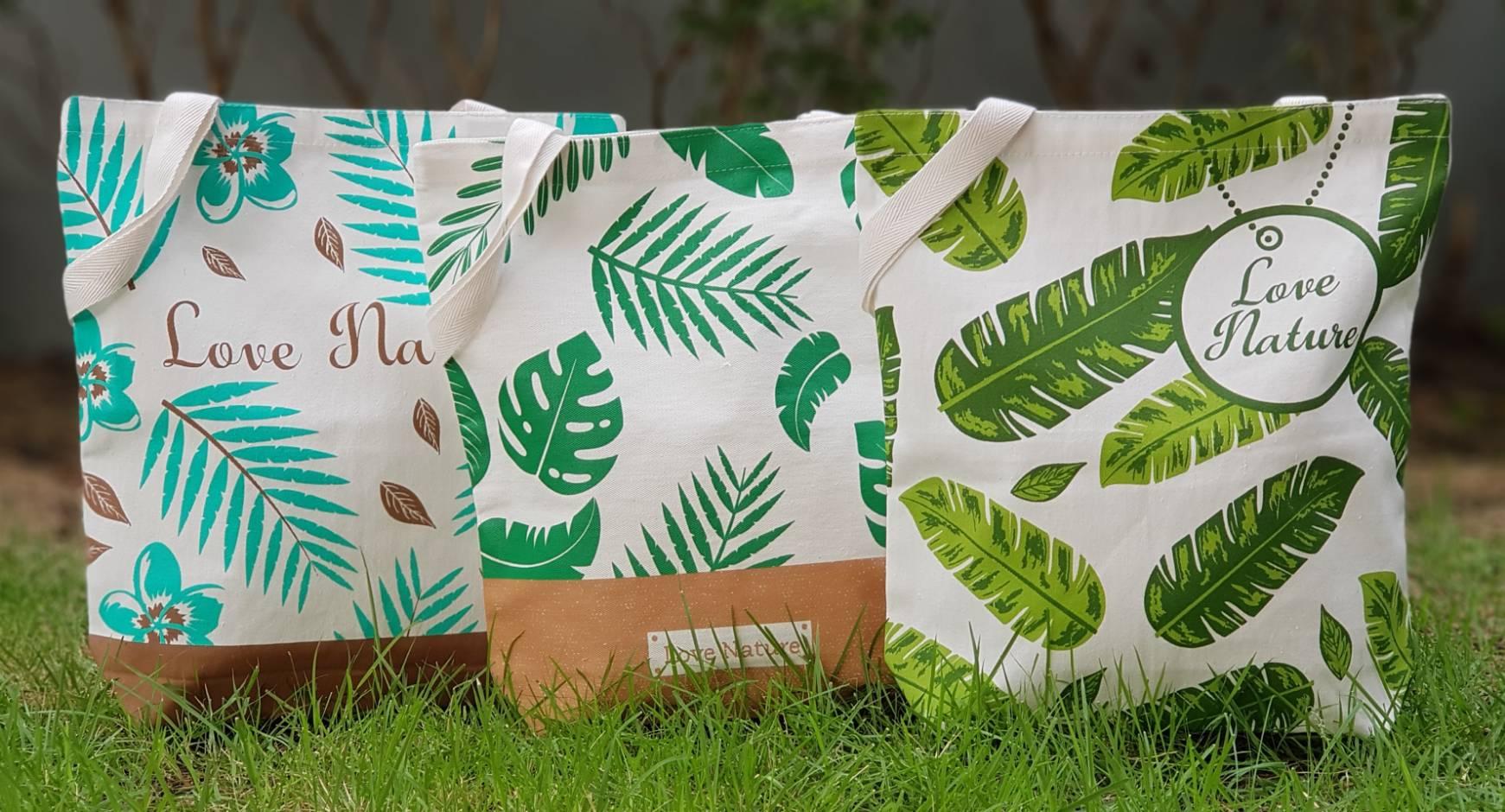 งานพิมพ์, ดิจิตอล, หลากสี, ดีไซน์, สกรีน, ถุงผ้าดิบ, กระเป๋าผ้าดิบ, ถุงผ้า, ลดโลกร้อน, สกรีนลายสำเร็จรูป, ขายส่ง, ลายน่ารัก, love nature, จาก baginlove.com