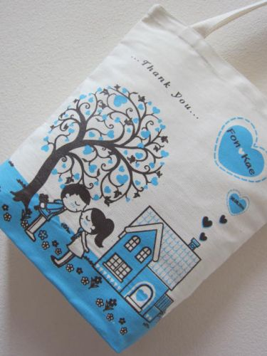 ถุงผ้า ของชำร่วย งานแต่งงาน จาก baginlove.com