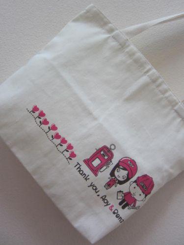ถุงผ้า กระเป๋าผ้าดิบ ลดโลกร้อน ของชำร่วยงานแต่ง สกรีนลายสวย น่ารัก จาก baginlove.com