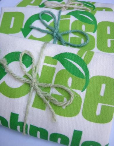 ถุงผ้า ผูกเชือกปอ พร้อมให้ผู้รับ น่ารัก น่าใช้ มีประโยชน์ ช่วยลดโลกร้อน