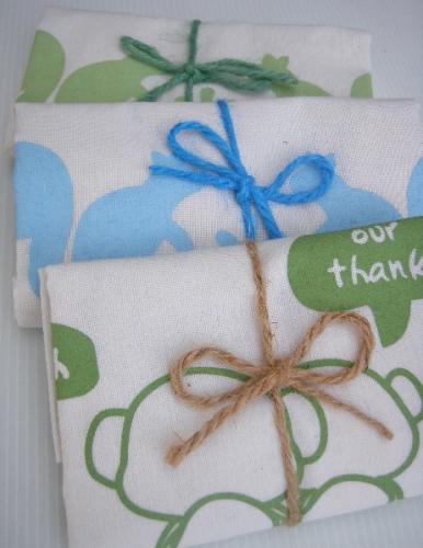 ถุงผ้าของชำร่วย ผูกเชือกปอ พร้อมให้ผู้รับ น่ารัก น่าใช้ มีประโยชน์ ช่วยลดโลกร้อน