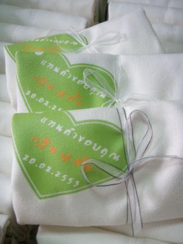 ถุงผ้านาโน ผูกโบว์ เป็นของรับไหว้ พร้อมให้ผู้รับ น่ารัก น่าใช้ มีประโยชน์ ช่วยลดโลกร้อน