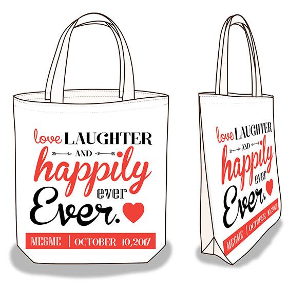 ถุงผ้าดิบ, กระเป๋าผ้าดิบ, ของชำร่วย, งานแต่งงาน, แต่งงาน, บ่าวสาว, ลดโลกร้อน, ผ้าดิบลายสอง, ผ้าแคนวาส, สกรีนลาย, baginlove.com