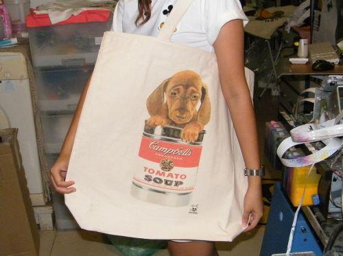 ตัวอย่างกระเป๋าผ้าถุงผ้าพิมพ์ลาย2