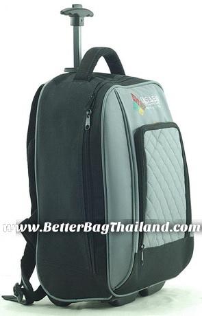 บริษัทที่ทำกระเป๋าเป้ล้อลากจำนวน 100 ใบ รับผลิตกระเป๋าเดินทางล้อลากพร้อมสกรีนโลโก้ตามแบบของลูกค้า