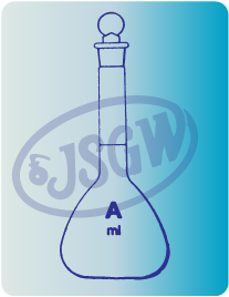 Volumetric flask class A with certification, PE stopper