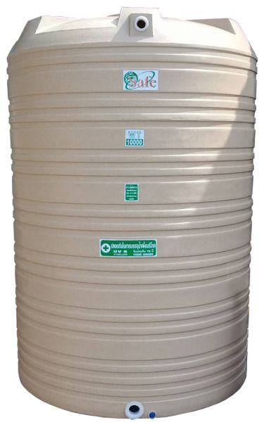 ถังน้ำ ถังเก็บน้ำ ถังน้ำดี พลาสติก กันตะไคร่ พีอี  10000 ลิตร