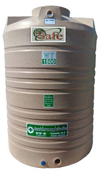 ถังน้ำ ถังเก็บน้ำ ถังน้ำดี พลาสติก พีอี ลายแกรนิต กันตะไครน้ำ  safe 1500 ลิตร