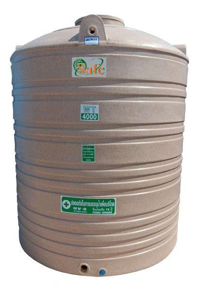 ถังน้ำ ถังเก็บน้ำ ถังน้ำดี พลาสติก พีอี ลายแกรนิต กันตะไครน้ำ  safe 4000 ลิตร