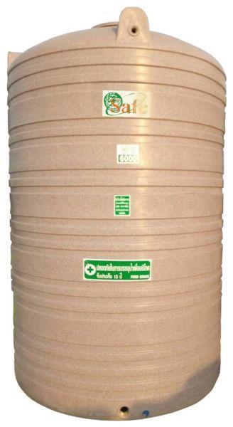 ถังน้ำ ถังเก็บน้ำ ถังน้ำดี พลาสติก พีอี ลายแกรนิต กันตะไครน้ำ  safe 6000 ลิตร