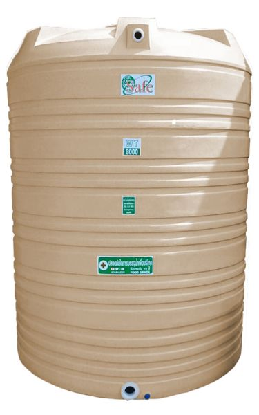 ถังน้ำ ถังเก็บน้ำ ถังน้ำดี พลาสติก พีอี ลายแกรนิต กันตะไครน้ำ  safe 8000 ลิตร