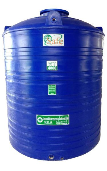 ถังน้ำ ถังเก็บน้ำ ถังน้ำดี พลาสติก พีอี 4000 ลิตร