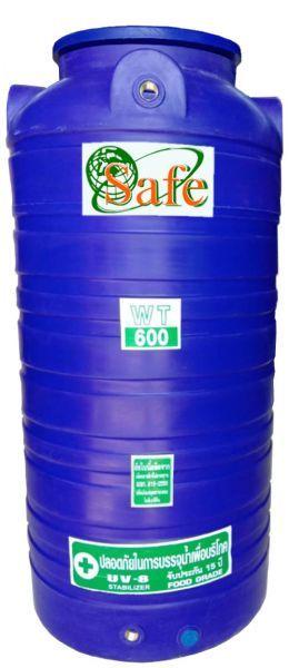 ถังน้ำ ถังเก็บน้ำ ถังพักน้ำ PE ถังน้ำดี safe 600 ลิตร