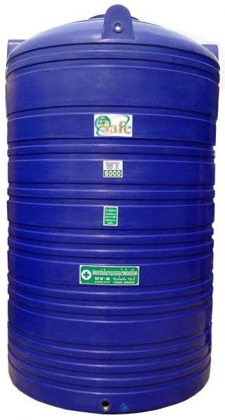 ถังน้ำ ถังเก็บน้ำ ถังน้ำดี พลาสติก พีอี  safe 6000 ลิตร