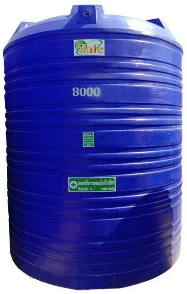 ถังน้ำ ถังเก็บน้ำ ถังน้ำดี พลาสติก พีอี  8000 ลิตร