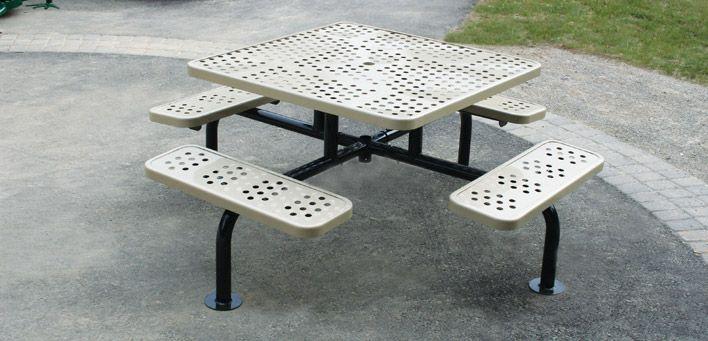 ตะแกรงเจาะรูใช้ทำโต๊ะและเก้าอี้