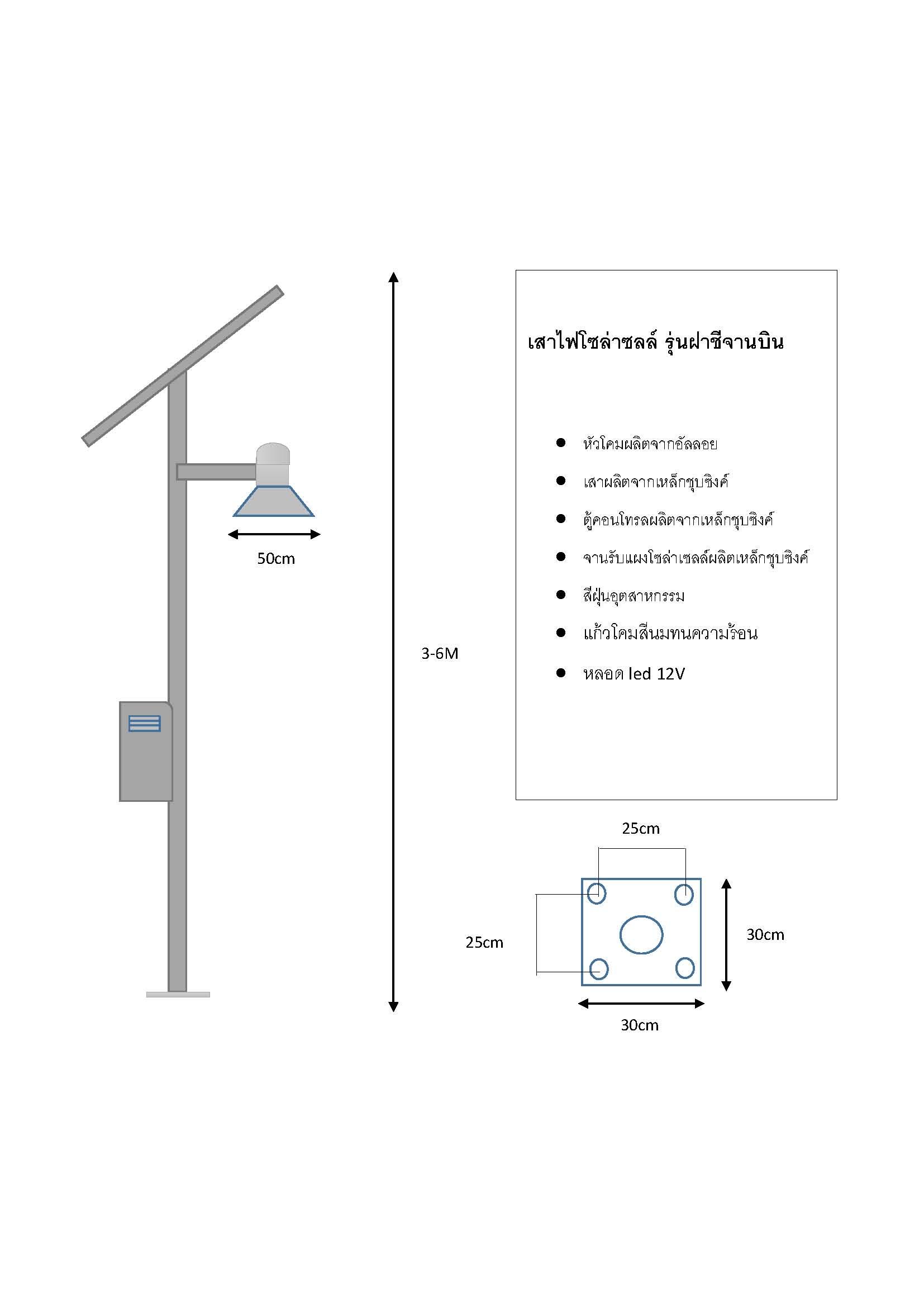 โคมไฟถนนโซล่าเซลย์