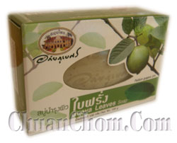 สบู่บำรุงผิวใบฝรั่ง  Guava Leaves Soap