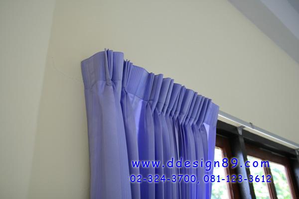 ผ้าม่าน ม่านจีบรางซี ติดม่านสีฟ้า และฉากกั้นห้องแบบ Pvc แบบทึบ ที่ศูนย์เด็กเล็กศิรินธรสมุทรปราการ
