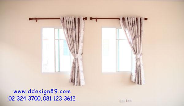 ม่านตาไก่ ม่านลายดอกไม้ติดหน้าต่าง ม่านติดห้องโถง ม่านติดหน้าต่าง