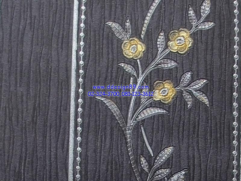 วอลเปเปอร์ลายดอกไม้พื้นสีดำ
