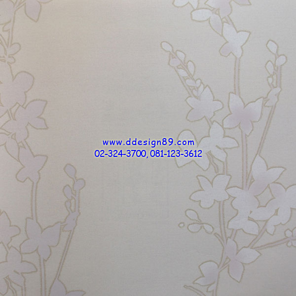 วอลเปเปอร์ดอกไม้ลายวินเทจพื้นขาว
