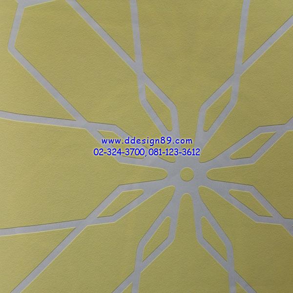 วอลเปเปอร์ติดผนังลายกราฟฟิกสีเหลือง