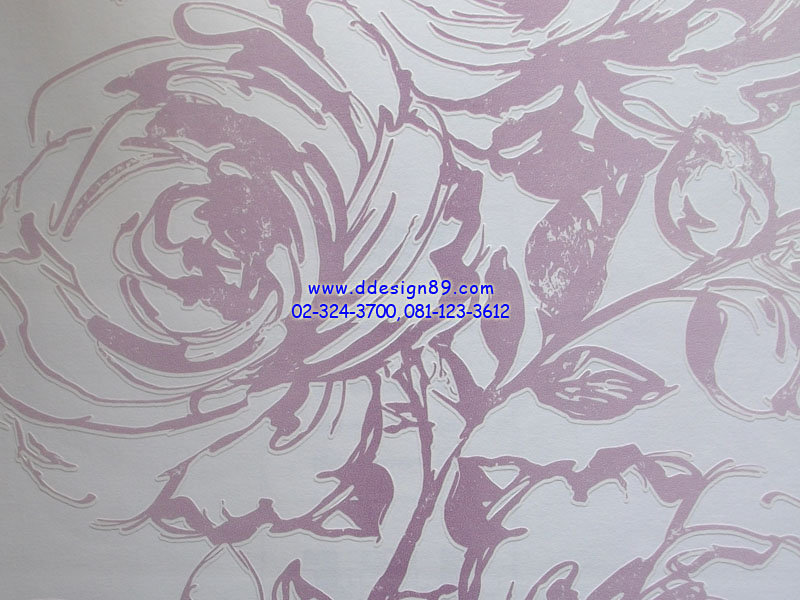 วอลเปเอร์ลายดอกกุหลาบม่วง